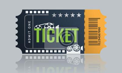 Kino Ticket Muster Vorlage Design Trendiger 6