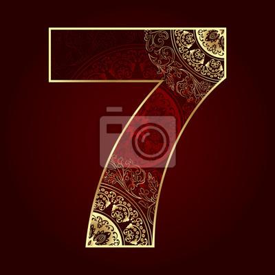 Klassiker Nummer 7 mit floralen wirbelt