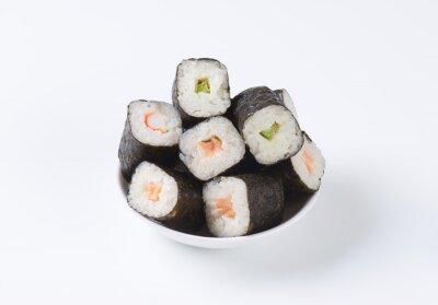 Poster Klassische Sushi-Rollen