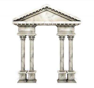 Poster Klassischer korinthischer Säulenbogen.