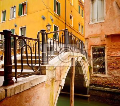 Kleine Brücke in Venedig, Itali