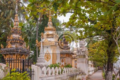 Kleine Stupas in Vientiane Stadt