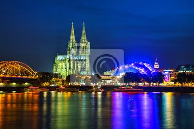 Kölner Übersicht nach Sonnenuntergang