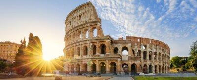 Poster Kolosseum in Rom und Morgensonne, Italien
