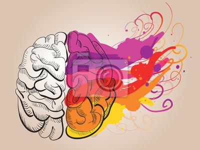 Poster Konzept - Kreativität und Gehirn