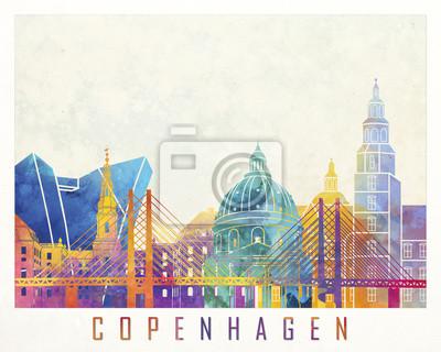 Kopenhagen-Markstein-Aquarellplakat