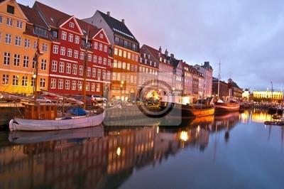 Kopenhagen - Nyhavn de nuit