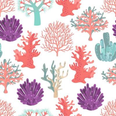 Poster Korallen nahtlose Muster