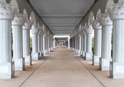 Poster Korridor mit Säulen