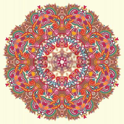 Poster Kreis Ornament, ornamentale runden Spitzen