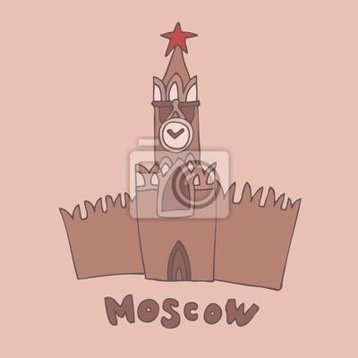 Kreml-Turm mit Uhr in Moskau, Russland