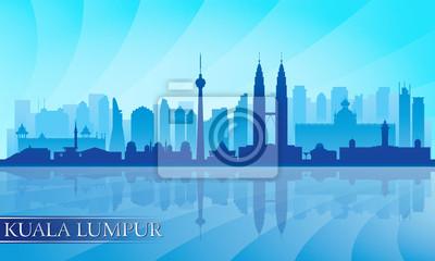 Kuala Lumpur Skyline detaillierte Silhouette