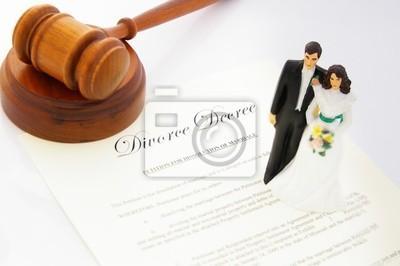 Kuchen-Topper Hochzeitspaar, Scheidung Vereinbarung und ein Hammer