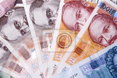Poster Kuna Banknoten