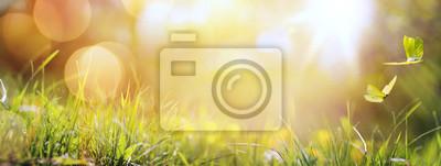 Poster Kunst abstrakte Frühjahr Hintergrund oder Sommer Hintergrund mit frischen g