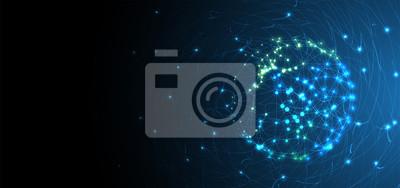 Poster Künstliche Intelligenz. Technologie-Web-Hintergrund. Virtuelles Konzept