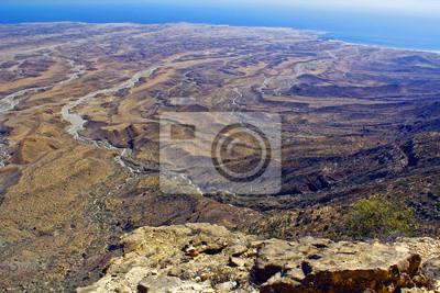 Küste von Oman Salalah in der Nähe, Landschaft