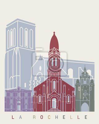 La Rochelle Skyline-Plakat