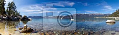 Poster Lake Tahoe Panoramic Beach Landscape