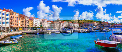 Poster Landmarks and travel in Croatia. Coastal colorful town - Senj