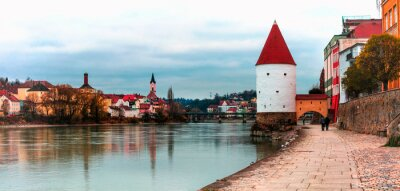 landmarks and travel in Germany - historic town Passau in Bavaria