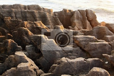 Landschaft des Grand Canyon Pancake Felsen an der Westküste Strand New Z
