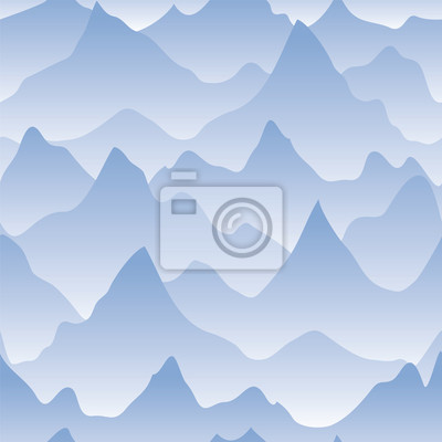 Landschaft mit Bergrücken und Nebel