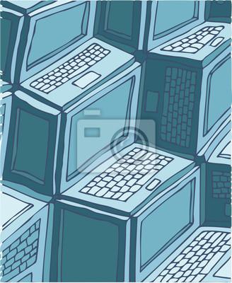 Laptop Hintergrund, Vektor-Illustration