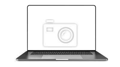 Poster Laptop template isolated on white. Mockup.