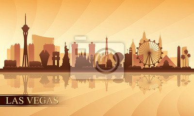 Las Vegas Stadt Skyline Silhouette Hintergrund