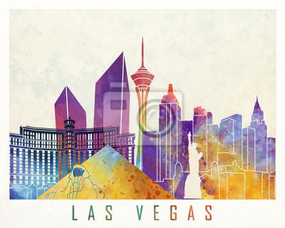 Las Vegas Wahrzeichen Aquarell Poster