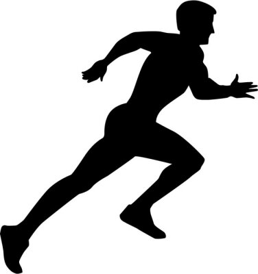 Poster Laufende Sprint Silhouette