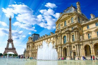 Poster Le Louvre, Paris, Frankreich