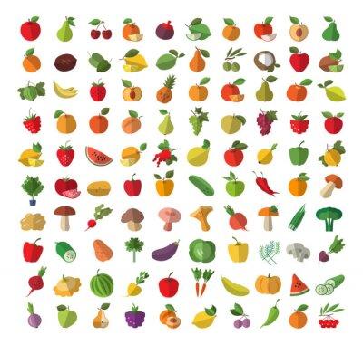 Poster Lebensmittel. Obst und Gemüse.