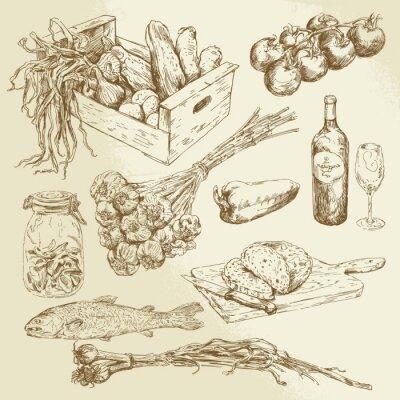 Poster Lebensmittel-Sammlung