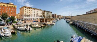 LEGHORN, ITALY - APRIL 2013: Lungomare in Livorno - Leghorn, Italy, sea promenade