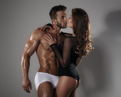 Poster Leidenschaft Frau und Mann