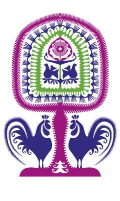 Poster Leluja kurpiowska wycinanka