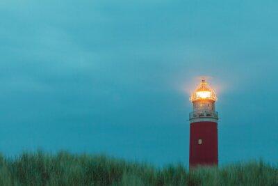 Poster Leuchtturm auf der niederländischen Insel Texel