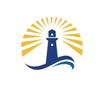Poster Leuchtturm-Logo