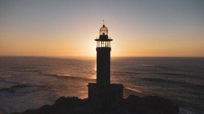 Poster lighthouse at dusk