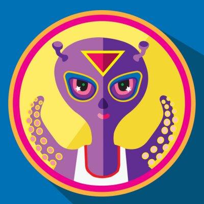 Poster Lila alien vector flache illustration