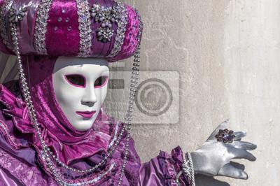 Lila Maske in Venedig Karneval