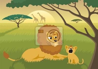 Lions in der Wildnis