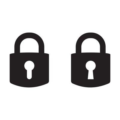 Poster Lock vector icon, padlock icon, vector isolated symbol