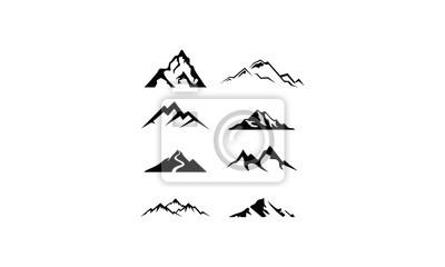 Poster logo set mountain vector