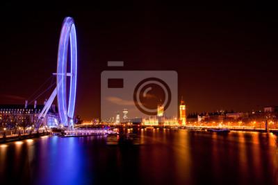 London Eye und Big Ben bei Nacht