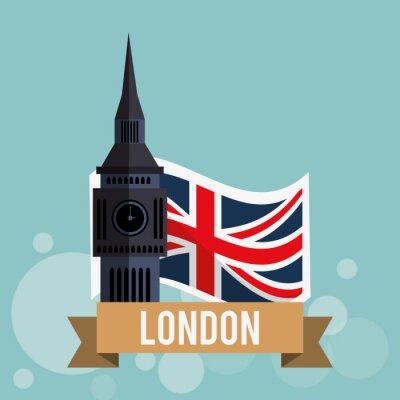 Poster London-Ikonenentwurf