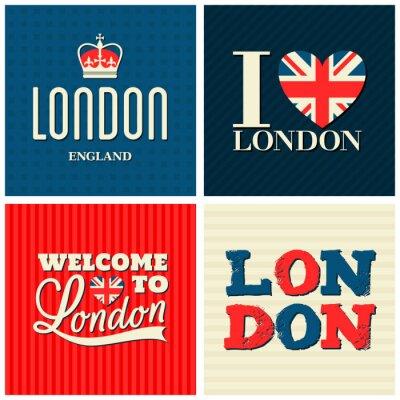 Poster London-Karten-Sammlung