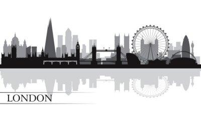 Poster London Skyline Silhouette Hintergrund